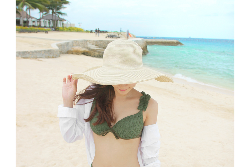 Sand beach hat (* 2color) <br>