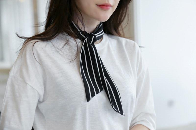 Stripe scarf (* 3color)