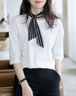 Stripe scarf (* 3color)