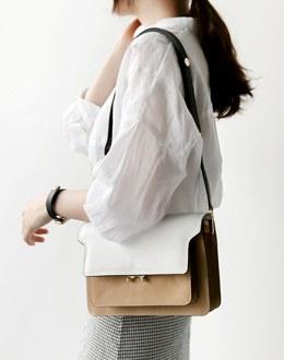 The two-tone color scheme bag (* 2color)