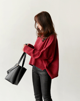 Mix red knit (* 5color)