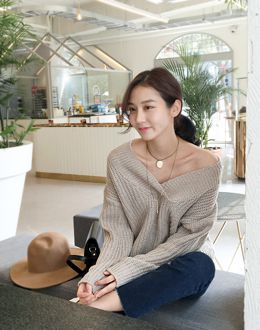 Pullover knit (* 4color)