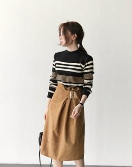 Paula van color knit (* 3color)