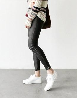 Coated zipper pants