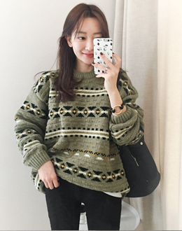 Roman winter knit (* 2color) # same day shipping
