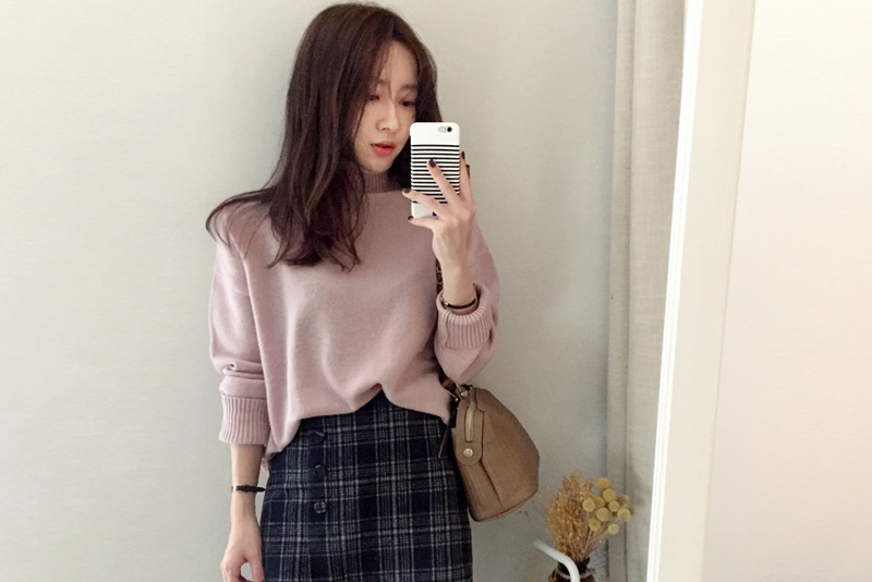 Pinky Turtle knit (* 4color) # same day shipping