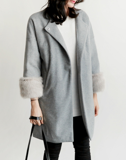 Beonel Fur coat (* 2color) # same day shipping