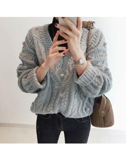 V tummy knit (* 3color)