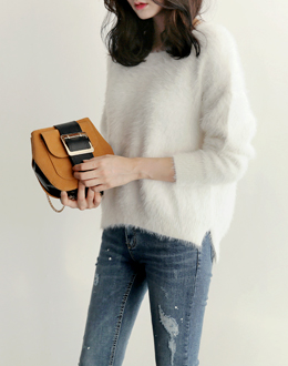 Pont pastel knit (* 3color) # same day shipping