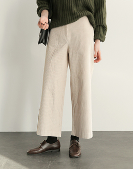 Wide Corduroy pants (* 2color) # same day shipping