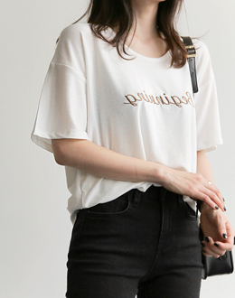 Burning embroidered t (* 3color)