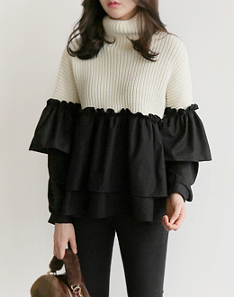 Awesome ruffle knit (* 2color)