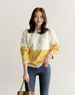 Egg knit (* 4color)