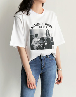 Vintage hippie t (* 4color)