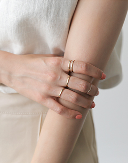 Connie value set ring (* 2color)