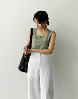 Square Sleeveless shirts (* 3color)