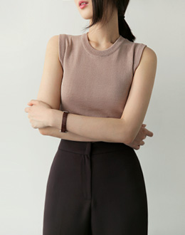 Demia Sleeveless shirts (* 4color)