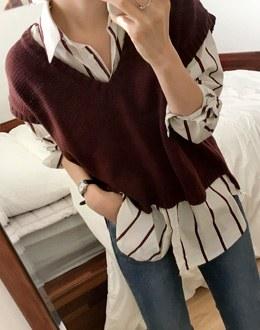 Knit vest (* 3color)