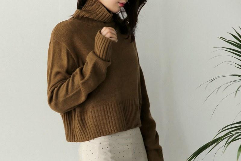 Crop Turtle knit (* 4color)