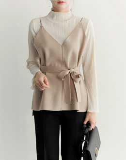 Strap Wool vest (* 4color)
