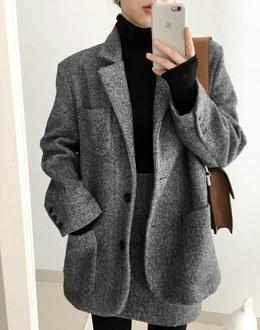 Agatha herringbone coat (* 2color)