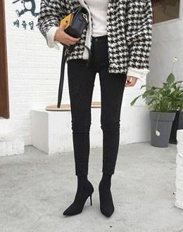 Black brushed pants
