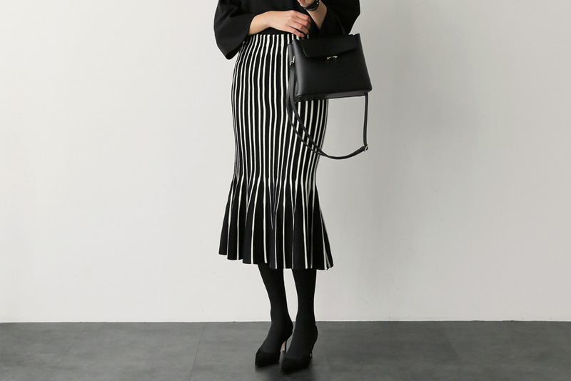 Roron pleated sk (* 4color)
