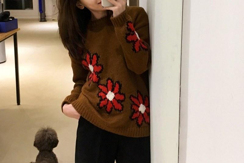 Camille flower knit (* 2color)