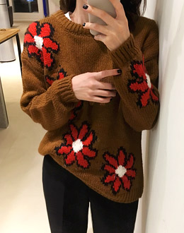 Camille flower knit (* 2color)