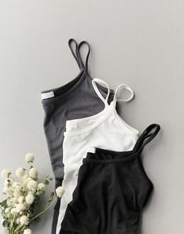 Mochi simple sleeveless shirts (* 3color)