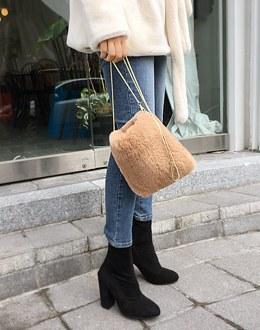 Mini square Fur bag (* 4color)