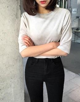 Velvet Short Sleeve t (* 3color)