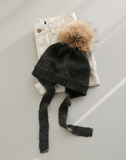 Raccoon miniature earring hat (* 2color)