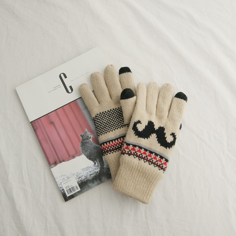 Mustache Touch Gloves (* 2color)