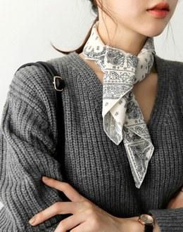 Piece square scarf (* 4color)