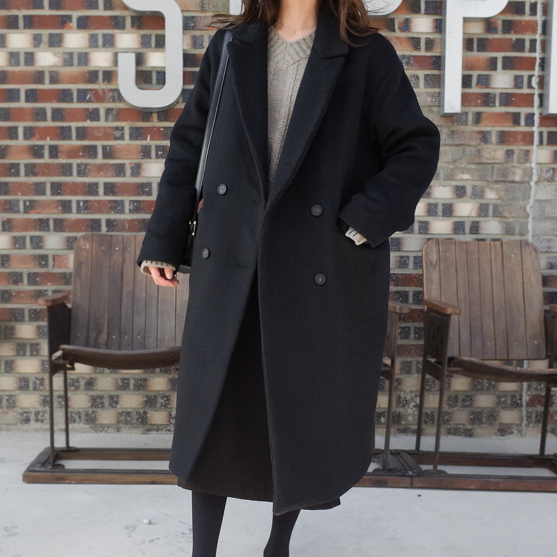 Demid Wool coat (* 2color) # Same day shipping Black