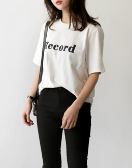 Record Short-sleeve t (* 3color)