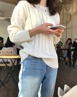 Irregular knit (* 3color)