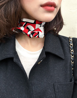 Figure twirly scarf (* 4color)