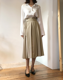 Miu pleated sk (* 2color)