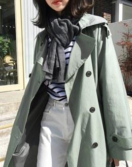 Mark plain scarf (* 7color)