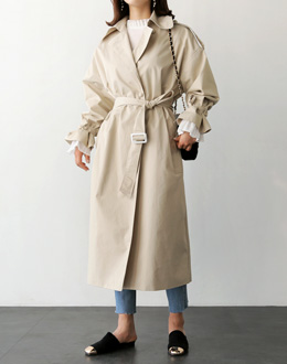 Ribbon Celine Trench coat (* 2color)