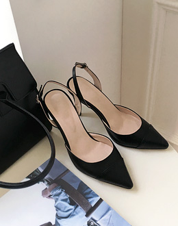 two tone Sling backs shoes (* 3color)