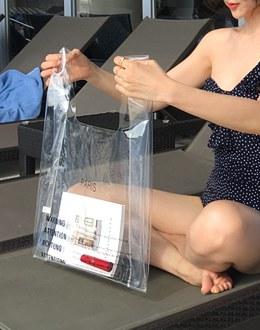 Transparent beach bag