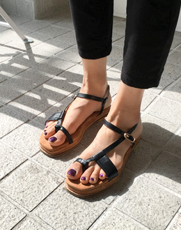 Cow Sandals shoes (* 2color)