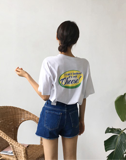 Cheese Short-sleeve t (* 3color)