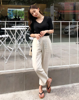 Straight Linen pants (* 3color)