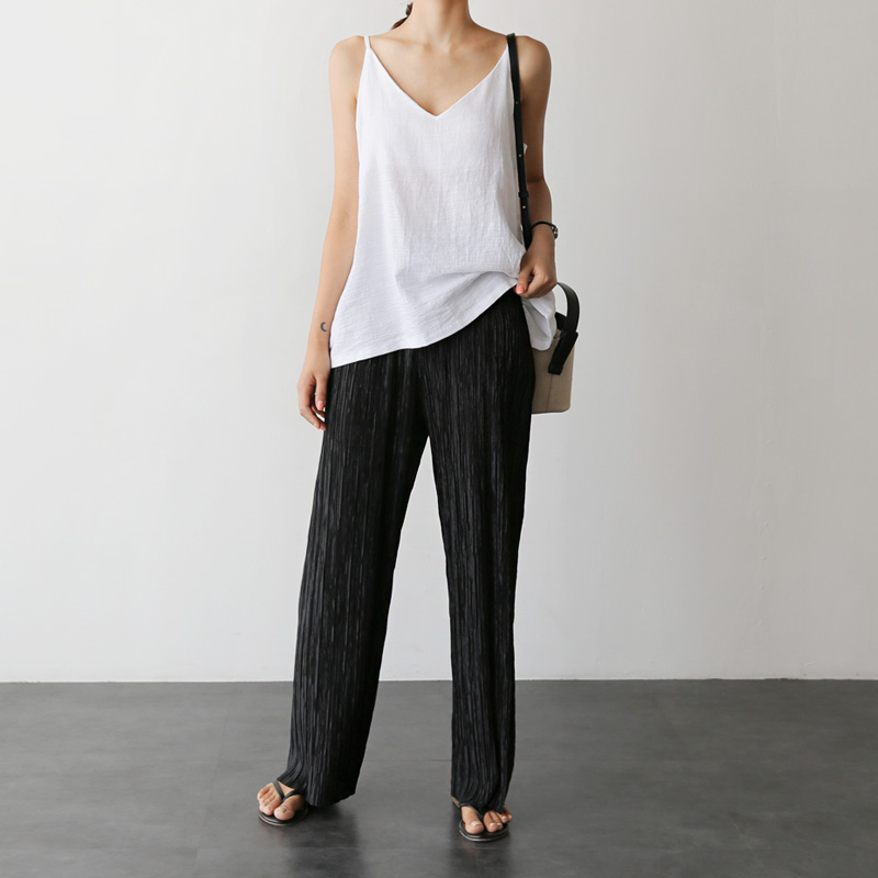 Pleats pants (* 3color)