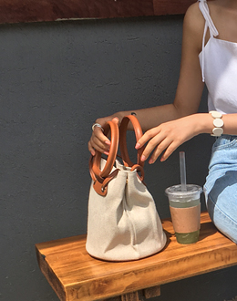 Wooden Linen bag (* 2color)