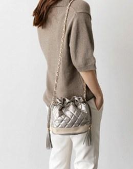 Shark embroidered bag (* 3color)